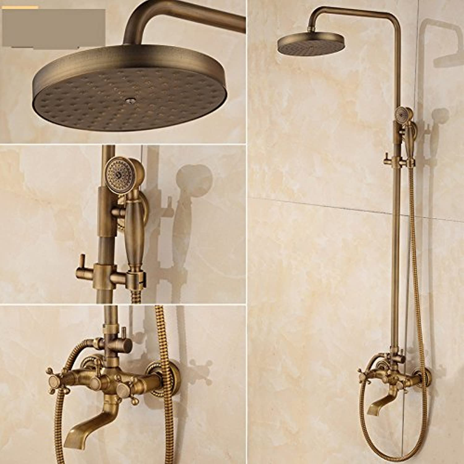 ZXYAntique shower shower, all copper accessories shower