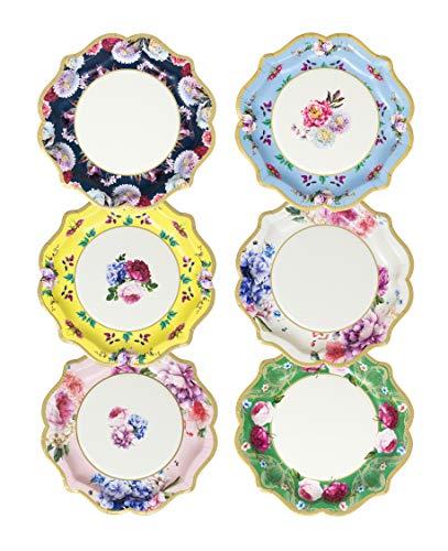 Talking Tables Stoviglie per la tavola di decorazioni per la festa di Natale- Piatto di Carta, TS8-PLATE-MED