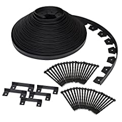 EASYFLEX COMMERCIAL GRADE NO-DIG LANDSCAPE EDGING: Create a beautifully landscaped yard without having to hire a professional – this commercial grade plastic edging can be used for both gardens and paver edging KIT INCLUDES: 100-foot coil of heavy-du...