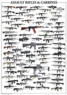 Assault Rifles Poster Guide #01 24x36in