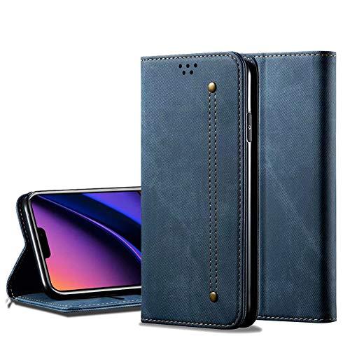 EROYAL für LG K50S Hülle, Stoßfest Lederhülle Stoßfest Filp Cover Outdoor Schutzhülle Kratzfeste Handyhülle mit Standfunktion/Kartenfächer Hülle für LG K50S
