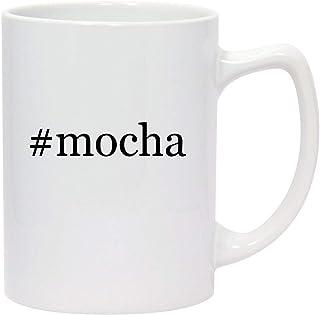 #mocha - 14oz Hashtag White Ceramic Statesman Coffee Mug