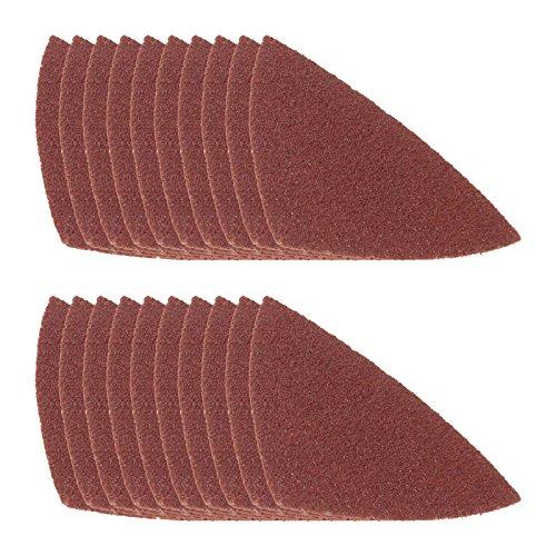 20 KROP multifunctioneel gereedschap driehoekig schuurpapier, 78 mm voor Bosch Fein MultiMaster DeWalt Black & Decker Einhell Makita Milwaukee Parkside Skil Stanely FatMax Workzone en meer. (korrel 40)