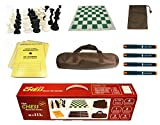 IDOPUZ️® All-Combo Juego de ajedrez Staunton Tournament al Mejor Precio | Tablero Enrollable de 51cm King 95mm | 50 Juegos Socrebooks | Pluma de ajedrez | Juego de Mesa Chess Bag
