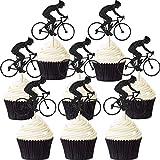 72 Stücke Fahrrad Cupcake Topper Fahrrad Sport Kuchen Topper Glitter Fahrrad Kuchen Dekoration für Fahrrad Themed Birthday Party Supply