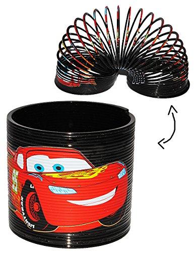 alles-meine.de GmbH Treppenläufer / Spirale -  Disney Cars - Lightning McQueen  - Springspirale für Treppen / Motorik Spiel - Springspirale - rosa / für Kinder Jungen - Auto - ..
