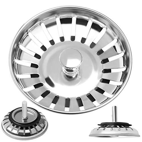 Invero - Filtro per lavello da cucina, diametro 83 mm, compatibile con la maggior parte dei lavelli