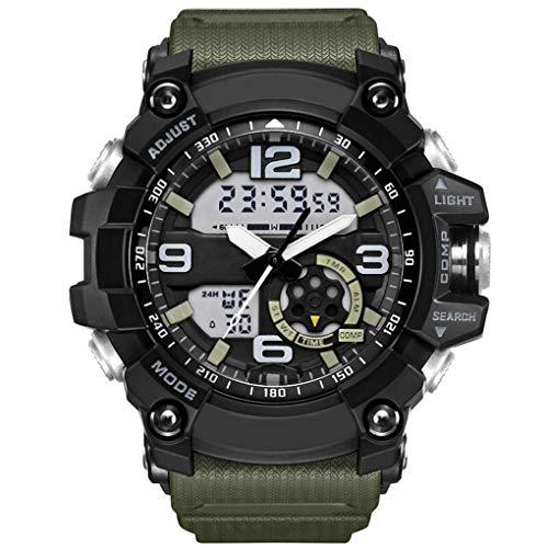 kineca Sport-Digital-Uhr-Männer verdoppeln Anzeigen-Sportuhren Outdoor Junge Stilvolle 50 wasserdichte Armbanduhr Uhr
