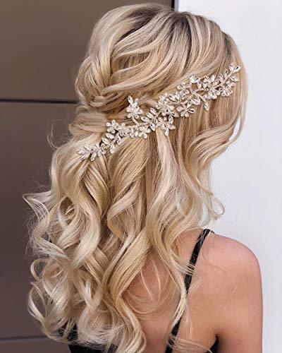 TOPQUEEN Haarschmuck für braut hochzeit haarschmuck hochzeit Silber Strass Braut Haarkamm Hochzeit Haarschmuck Tiara Diadem, Schmetterlinge (HP239-Silver)