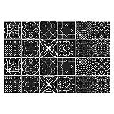 Adhesivo para azulejos, 24 unidades, autoadhesivo, para cocina, salón, baño, hogar, color negro (20 x 20 cm)