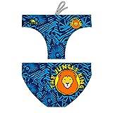Turbo - Bañador Jungle King Azul/Negro Slip de Waterpolo...
