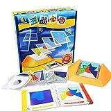 TOOGOO 100 Défi Code De Couleurs Jeux De Puzzle Tangram Jigsaw Board Puzzle Jouets Enfants Enfants Développent Logique Compétences De Raisonnement Spatial Jouet