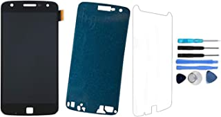 for Motorola Moto Z Play Droid LCD OLED Screen Replacement Touch Digitizer Glass Display Assembly Repair + Adhesive + Tempered Glass + Tool Moto Z Play Model XT1635-02 XT1635-01