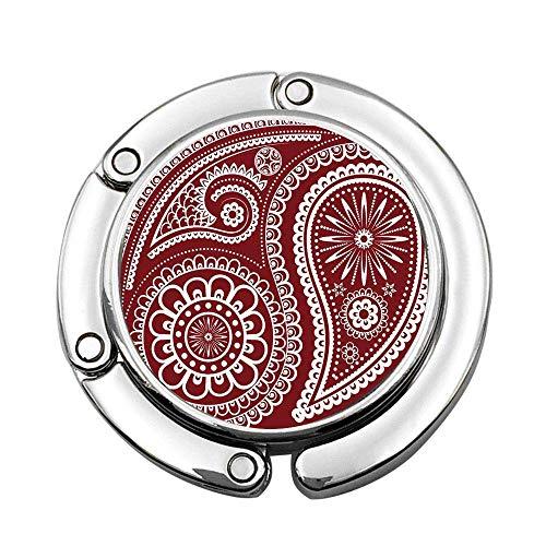 Decoración de Paisley, Motivos de Paisley orientales con Rama en Espiral y patrón de Flores, Arte étnico Bohemio, portátil Personalizado