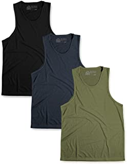 INTO THE AM Men's Basic Tank Tops - Soft Fitted Sleeveless Muscle Shirt Tanks