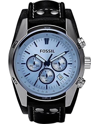 Fossil Homme Chronographe Quartz Montre avec Bracelet en Cuir CH2564
