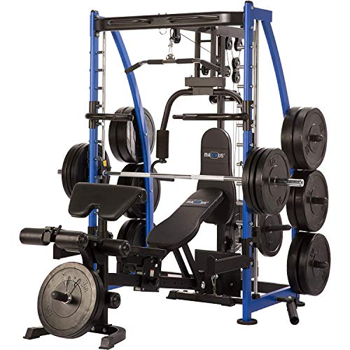MAXXUS Multi-Press 8.1 | Gym-Quality Home Multi Gym with Smith Machine for Full Body Strength Training | Includes Universal Weight Bench and Butterfly Machine