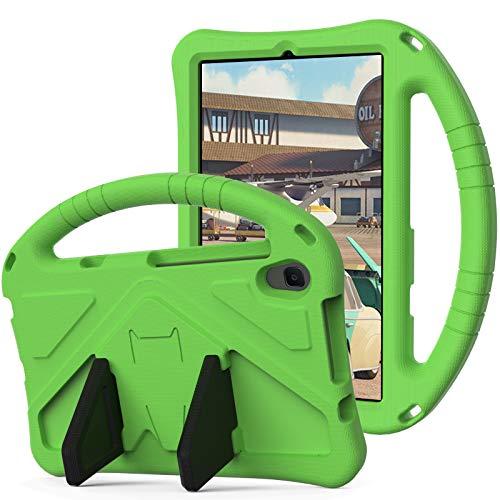 SZCINSEN Funda para Lenovo Tab M8 HD TB-8505F TB-8505X, para niños Eva a prueba de golpes Poids léger Dropproof Stand Tablet Case con asa grande Funda protectora resistente, para niños (Color: Verde)