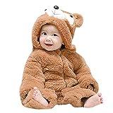 Manteaux bébé, YUYOUG Unisexe Bébé Grenouillères Combinaison Barboteuses Capuche Animal Mignon Costume de Enfants Costume de Enfants Garçon Fille Pyjama Hiver Chaud 3-24 Mois (3 Ans, Khaki)