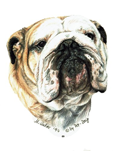 pet-lovers-gifts Aufkleber/Sticker/Autoaufkleber - Hunde Englische Bulldogge [r069]