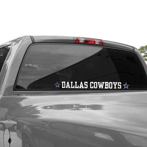 Dallas Cowboys Die Cut Transfer Decal Strip - White