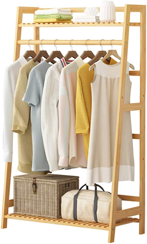 JQWGYYMJ Coat Rack, Floor Bedroom Rack Simple Modern Bamboo Storage Bag Rack Coat Rack Office Corridor Simple Bamboo Hanger Simple 3 Specifications (Size   Trapezoid 80)