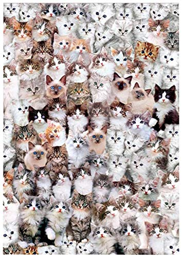 LGCCC Size Cat World-500 Piece Jigsaw Puzzle Piezas en Adultos y niños Wooden Jigsaw Puzzles DIY Hecho a Mano - Adult Puzzles Difficult Growups Puzzle