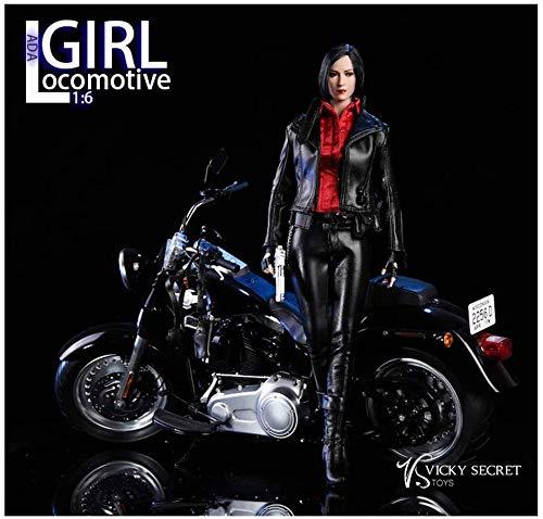 ZSMD 1 / 6VStoys Lokomotive Mädchen Ada Wang Leder Motorrad Mädchen Geeignet Zum Anziehen HT VERYCOOL TTL Hottoy Spielen Phicen