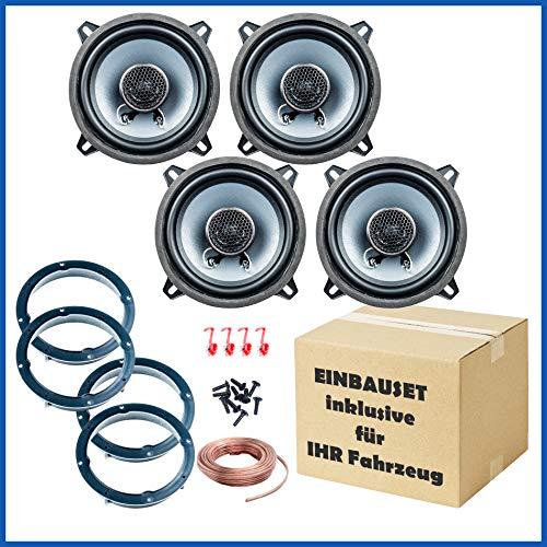 PG Audio Kit de montage de haut-parleur porte avant et arrière pour Renault Megane 3