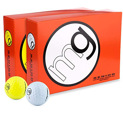 MG Golf Balls Senior Longest with Speed, Distance, & Maximum Enjoyment (1-Dozen)