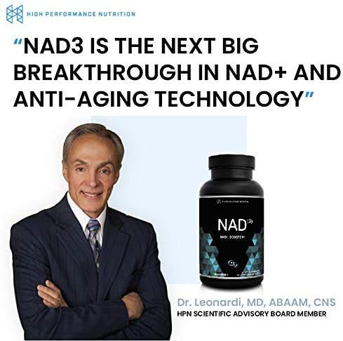 51OO3NdDY2L. SL500  - HPN NAD+ Booster – Nicotinamide Riboside Alternative (NAD3) for Men & Women | Anti Aging NRF2 Activator, Superior to NADH – Natural Energy Supplement for Longevity & Cellular Health, 60 Veggie Pills