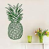 Murales calcomanías 49 cm x 86 cm piña fruta comida decoración del hogar cocina pegatina de pared extraíble pared decoración del hogar