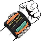 Grsta Pulsera Magnética Ajustable Con 15 Potentes Imanes, Regalos Para Hombres Cinturon De Herramientas De Bricolaje, Que Sostienen Tornillo, Clavos, Perno, Broca, Herramientas pladur (2 paquetes)