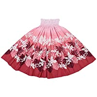 DFギャラリー パウスカート フラ ダンス衣装 日本製 シングル JP4072 75cm丈 ピンクグラデーション