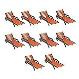 FLAMEER 10 Piezas Banco De Playa De Plástico Tumbonas De Sol Modelo De Diseño del Paisaje - 1: 150