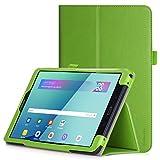 iHarbort Funda de Piel la PU para Samsung Galaxy Tab A 10.1 Pulgadas 2016 SM-T580 T585 (versión no S Pen) Automática para Dormir/Despertar, Correa para la Mano, Ranura para Tarjeta, Verde
