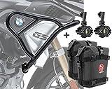 Set Defensas Arriba XL + Faro addicional + K3 para BMW R 1250 GS 19-20 Negro