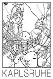 David Springmeyer: Retro Karte Karlsruhe Deutschland