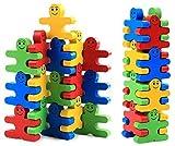 AUEDC Blocchetti di Costruzione in Legno 3D Puzzle Giocattoli impilabili per Bambini Bambini Bambini Prescolari Ragazzi e Ragazze Che imparano i Giocattoli educativi Bilanciere Giocattoli assemblati