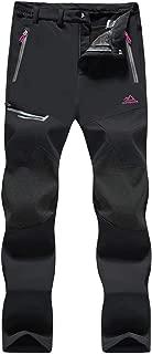MAGCOMSEN Women's Winter Pants Fleece Lined Waterproof Hiking Snowboard Ski Pants with Zip Pockets