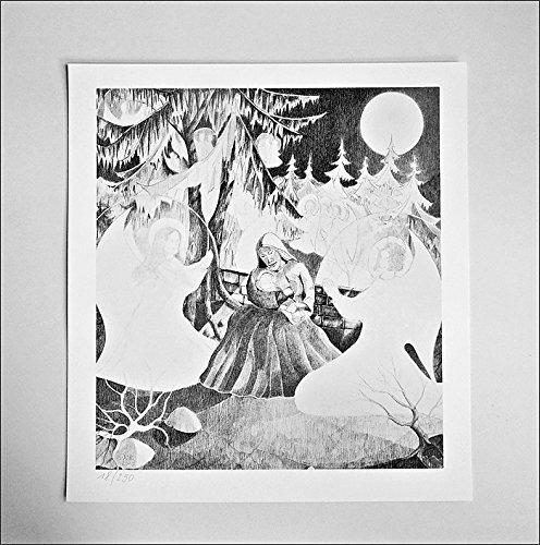 """Handmadegruss Art VD Faksimile Kunstdrucke. Edle Top Qualität in der Region von Hand hergestellt. """"Die Rast der Jungfrau und Gottesmutter Maria in St.Corneli"""""""