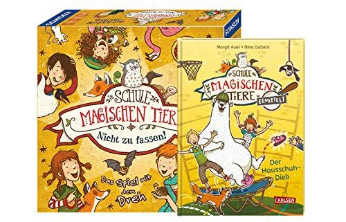 La escuela de los animales mágicos determina 2: El ladrón de zapatillas (libro encuadernado) + la escuela de los animales mágicos – no se puede tocar (juego de carrera cooperativo).