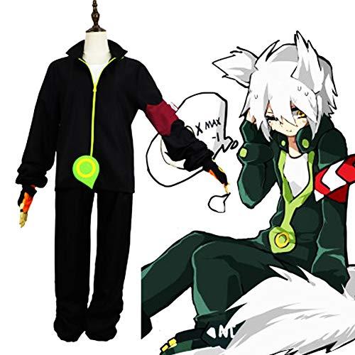 GGOODD Anime Aotu World Fox-G Cosplay Costume Halloween Party Unisexe Noir Combat Costume Casual Wear Vêtements de Tous Les Jours,XL