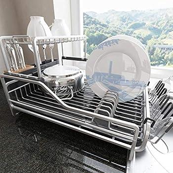 aluminum dish drying rack