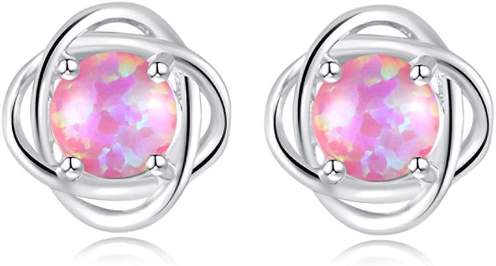 CiNily Opal Stud Earrings-Flower El Paso Mall Earrings R Teen Women for Girls Sacramento Mall