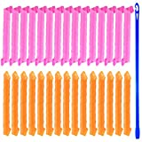 TUPARKA 30 Pcs Rulos para el Pelo, Rizos Espirales Kit, Rulos para el Cabello Sin Rizador para Pelo...