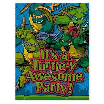 Teenage Mutant Ninja Turtles Invitations 8ct