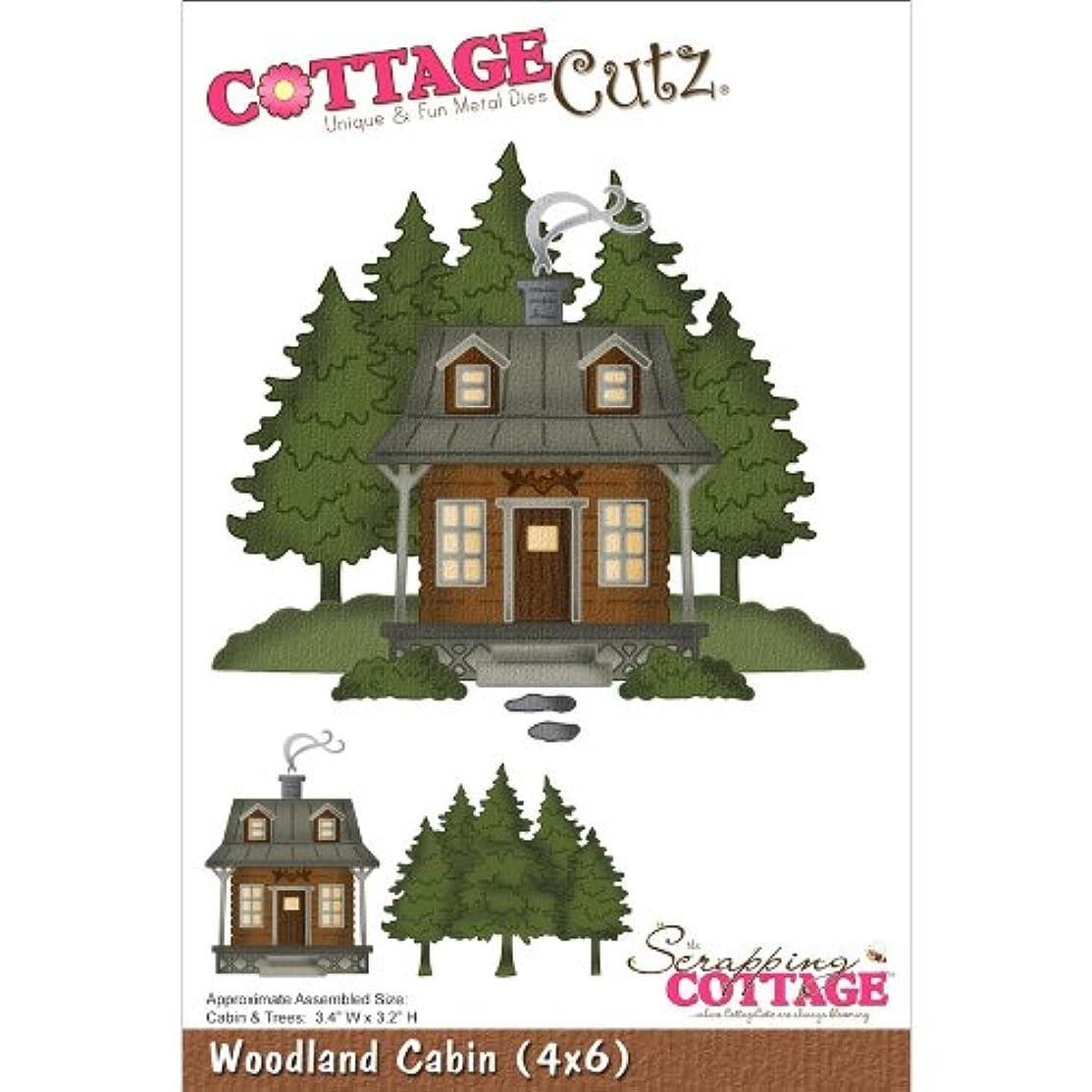 CottageCutz Die Cuts, 4 by 6-Inch, Woodland Cabin
