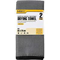 2-Pack Matcc Drying 21in. x 30in Microfiber Silk Car Wash Detailing Towel