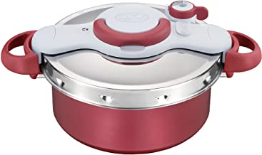 T-fal Pressure Cooker ClipsoMinut Duo 5.2L (RED)【Japan Domestic Genuine Products】